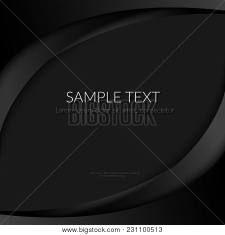 Abstract Background With Black Curved Lines On A Black Background Element Design Banners Posters Tem