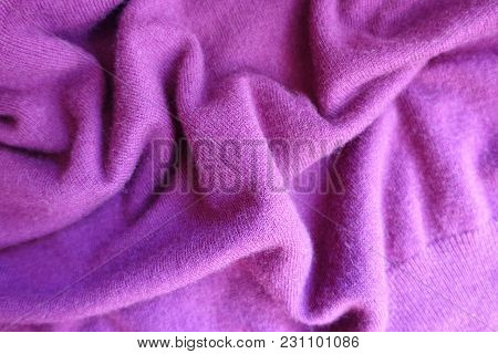 Draped Thin Simple Deep Pink Knitted Fabric