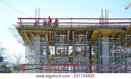 Building Under Construction In A Public Place
