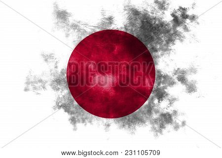 Old Japan Grunge Background Flag