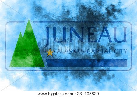 Juneau City Smoke Flag, Alaska State, United States Of America