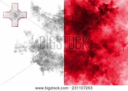 Old Malta Grunge Background Flag, Malta Flag