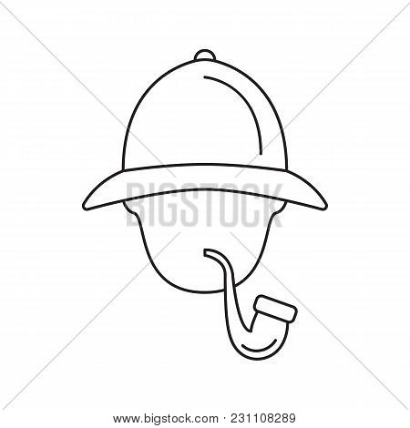 Sherlock Holmes Icon. Outline Sherlock Holmes Vector Icon For Web Design Isolated On White Backgroun