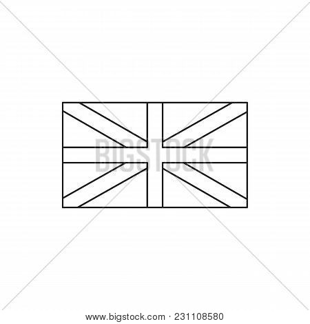 England Flag Icon. Outline England Flag Vector Icon For Web Design Isolated On White Background
