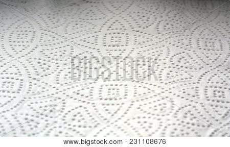 Paper Towel Surface With Blur Effect. Abstract Background And Texture For Design.