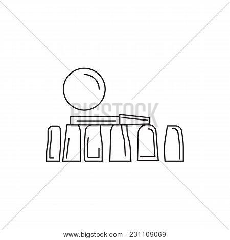 Stonehenge Icon. Outline Stonehenge Vector Icon For Web Design Isolated On White Background