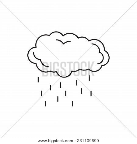 Rain Cloud Icon. Outline Rain Cloud Vector Icon For Web Design Isolated On White Background
