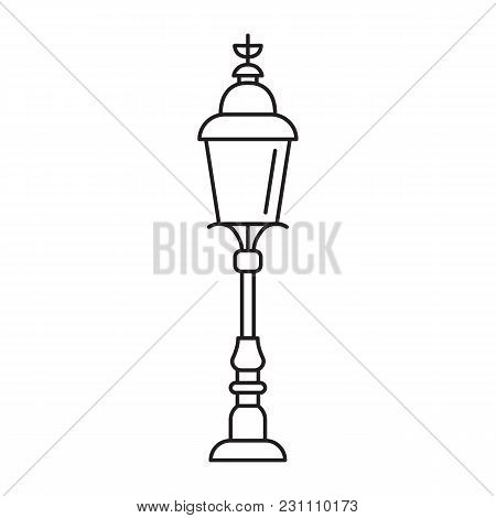 London Street Light Icon. Outline London Street Light Vector Icon For Web Design Isolated On White B