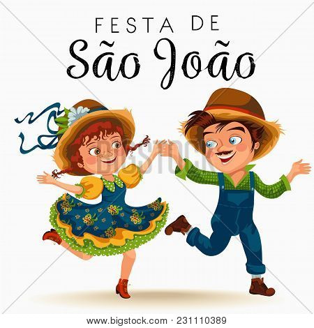 Young Man And Woman Dancing Salsa On Festivals Celebrated In Portugal Festa De Sao Joao, Girl In Str