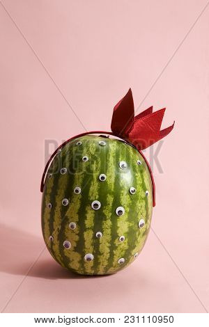 Freak Watermelon Wearing A Crown