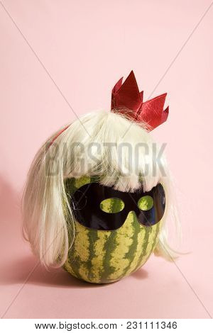 Watermelon Transform Into A Freak With Umbrella Hair Cocktail