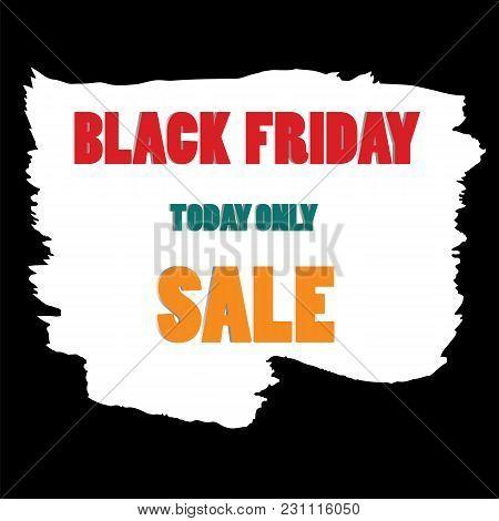 Watercolor Brush Stroke Colored Inscription Black Friday Sale Vector