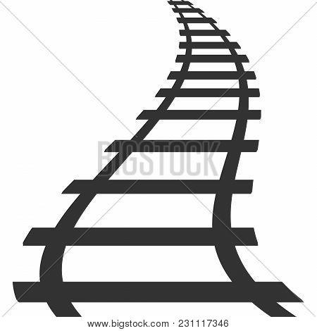 Locomotive Railroad Silhouette Track Railway Transit Route Icon