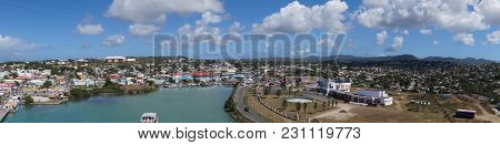 Antigua Saint John´s From The Perspective Of The Cruise Terminal Saint Johns