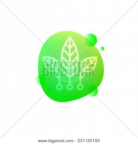 Vector Illustration Of Hi-tech Smart Plants Technology Isolated On White Background.
