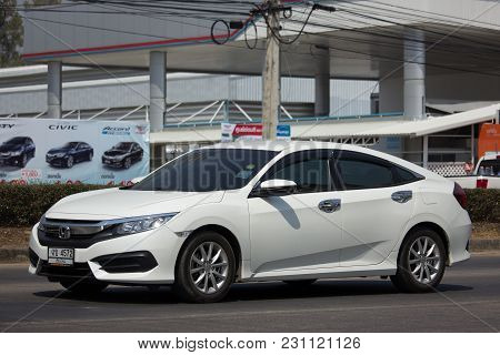 Chiang Mai, Thailand -february 27 2018: Private Sedan Car From Honda Automobil,tenth Generation Hond