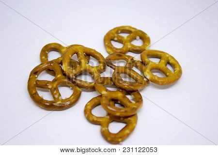 Small Salty Pretzels For Snack To Beer