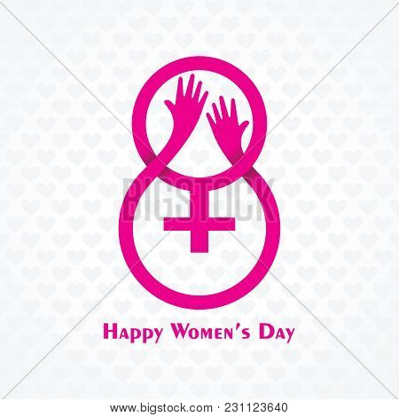 Vector Illustration Of International Women Day Stock Image And Symbols