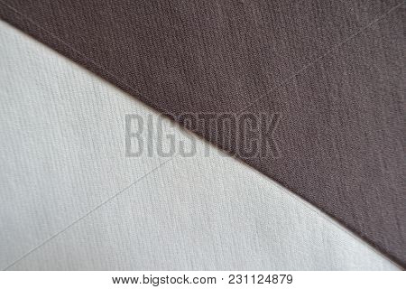 Ivory And Brown Fabrics Sewn Together Diagonally