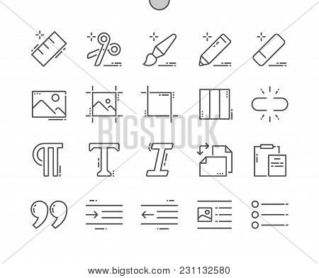 Edit Text Well-crafted Pixel Perfect Vector Thin Line Icons 30 2x Grid For Web Graphics And Apps. Si