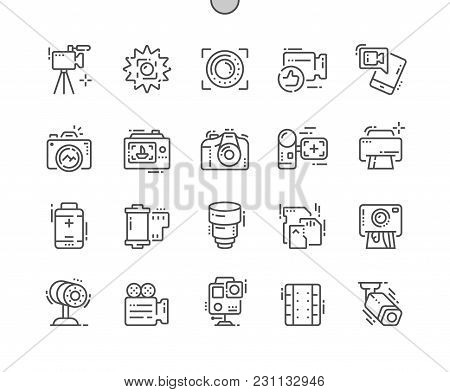 Camera Well-crafted Pixel Perfect Vector Thin Line Icons 30 2x Grid For Web Graphics And Apps. Simpl