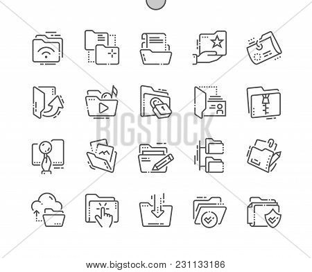 Folders Well-crafted Pixel Perfect Vector Thin Line Icons 30 2x Grid For Web Graphics And Apps. Simp