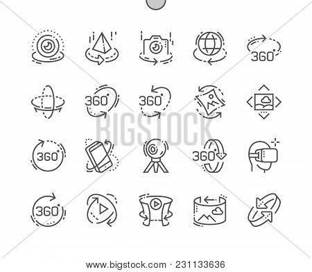 360 Degrees Well-crafted Pixel Perfect Vector Thin Line Icons 30 2x Grid For Web Graphics And Apps.