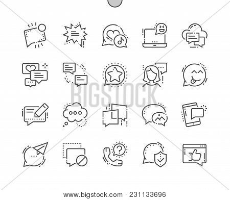 Messages Well-crafted Pixel Perfect Vector Thin Line Icons 30 2x Grid For Web Graphics And Apps. Sim