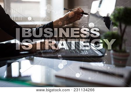 Business Strategy Concept On The Virtual Screen