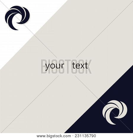 Abstract Logo Black And White Graphic Design Element Isolated Modern Vector Creative