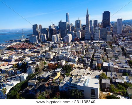 Above San Francisco From A Sky Scraper
