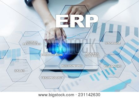 Enterprise Resources Planning Business And Technology Concept