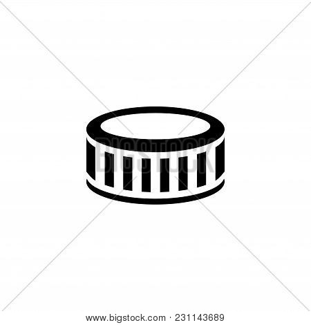 Tire. Flat Vector Icon. Simple Black Symbol On White Background