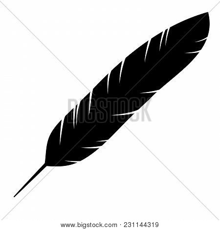Icon Of The Bird Feather. Vector Illustration