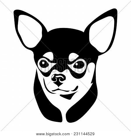 Portrait Of A Dog Of The Chihuahua Breed. Vector Illustration
