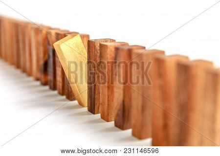 Outstanding Wooden Brown Block, Different Selection Concept
