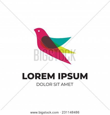 Abstract Modern Logo With Overlapping Vibrant Color