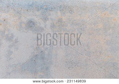 Clean Concrete Wall Texture Background With Bluish Gray And Yellow Tone Color.