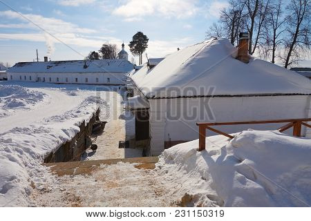 Houses Of Craftsmen In The Monastery Of The Nilo-stolobenskaya Pustyn, Ostashkov District, Tver Obla