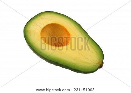 A Isolated Avocado Half Without  Pit Image