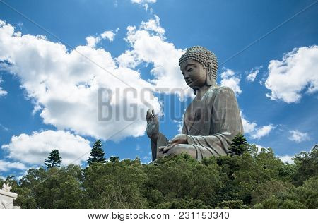 Tian Tan Buddha, Big Buddha - The World's Tallest Outdoor Seated Bronze Buddha Located In Nong Ping