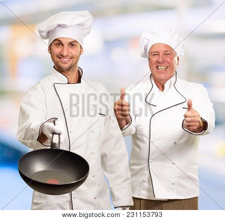 Portrait Of Two Happy Chef, Indoor