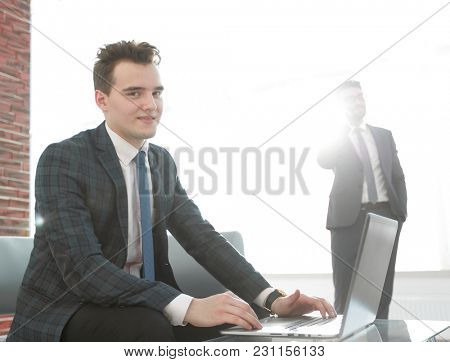 business concept.determined young businessman
