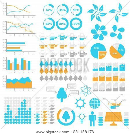 Ecology Infographic Elements. Templates For Infographic. Vector Illustration.