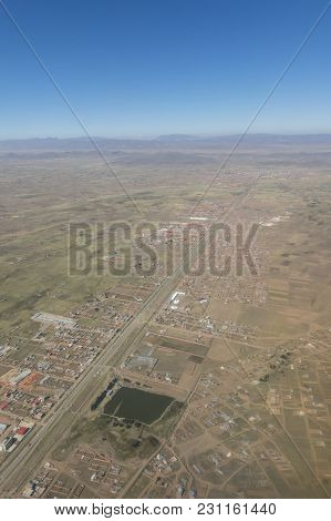 Overview Of The City Of El Alto, The Second City Of Bolivia After La Paz. Built Spontaneously In The