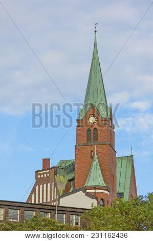 The Gustav Adolf Church (german: Schwedische Gustaf-adolfskirche) In Hamburg-neustadt, Germany. It W