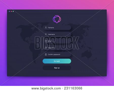Vector Illustration Of Screens And Web Concept. Interface Ux, Ui Gui Screen Template For Web Site Ba