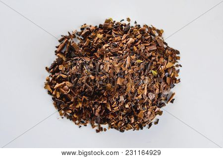 Herbs Of Toasted Erva-mate. Erva-mate Is Used To Prepare A Hot Or Cold Tea Drink, The Cha-mate Tea