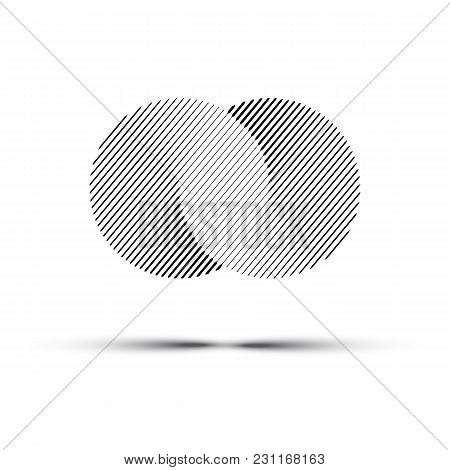 Vector Abstract Infinite Circles. Black Line Logo Design Element