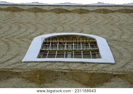 Bulding Windows And Details At King Abdul Aziz Historical Center In Riyadh, Saudi Arabia On 04-30-20
